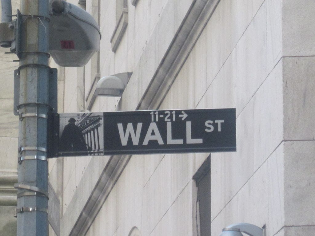 [Wall St. Sign]
