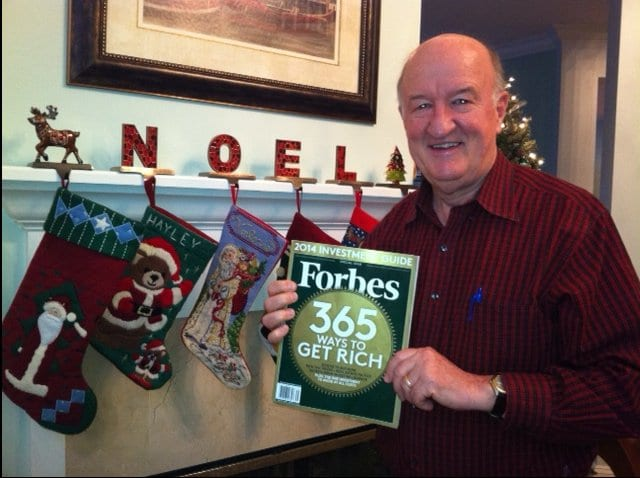 Dr. Mark Skousen with Forbes magazine issue