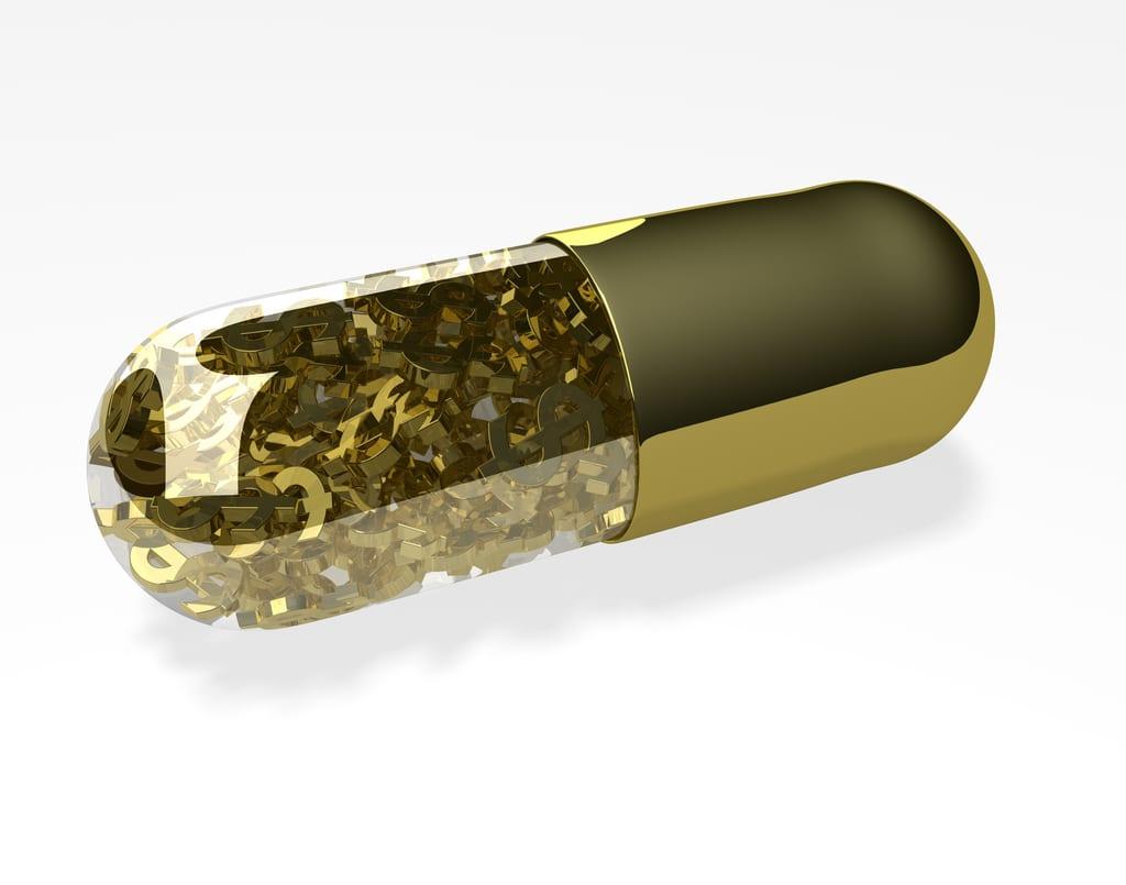 [gold pill]