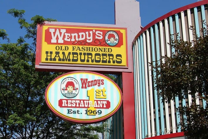 Wendy's Restaurant Sign