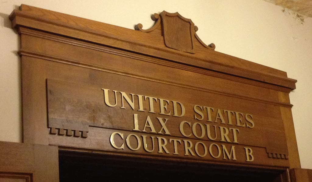 U.S. Tax Court Courtroom sign