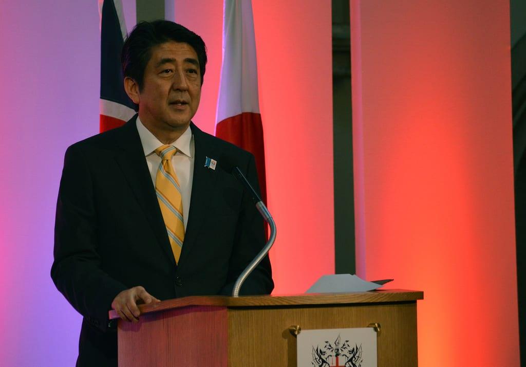 [Japanese Prime Minister Shinzo Abe]