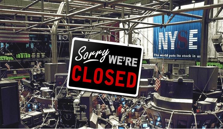 Días festivos de la Bolsa de Nueva York.