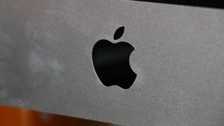 Apple Company logo on a piece of hardware